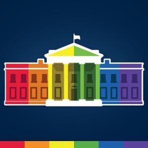 white house rainbow
