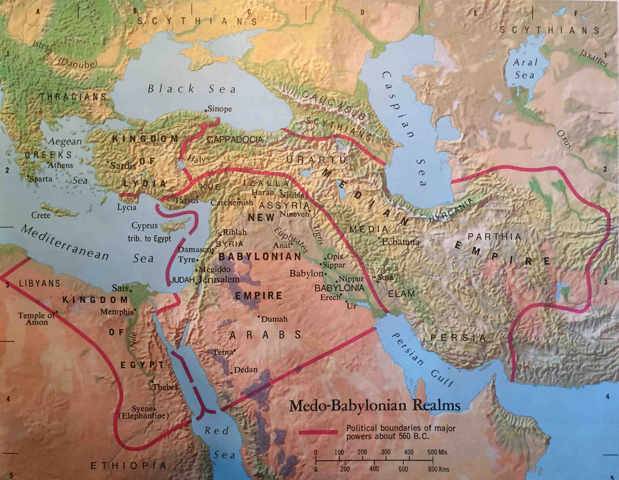 Bible Map: Medo-Babylonian Realms
