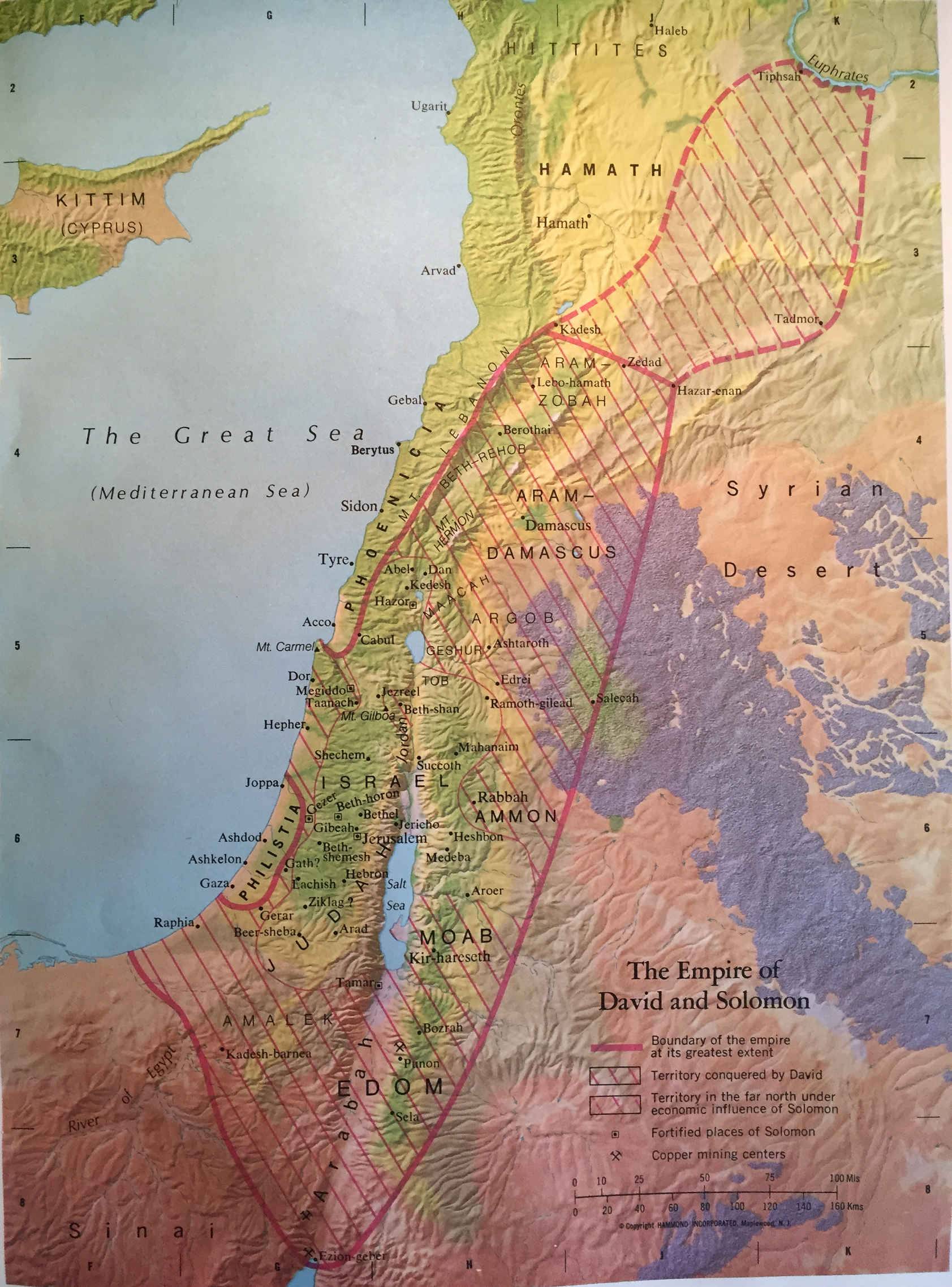 Bible Map: The Empire of David and Solomon