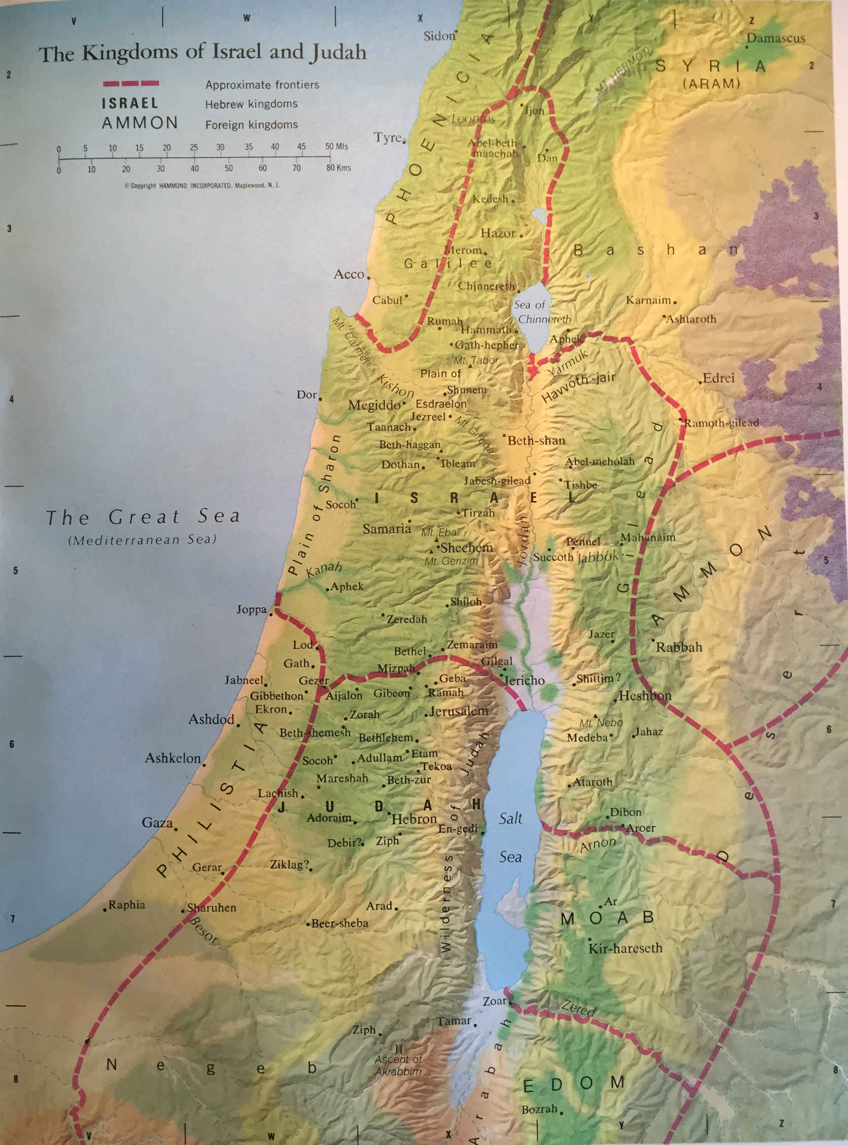 Bible Map The Kingdoms Of Israel And Judah World Events And The Bible