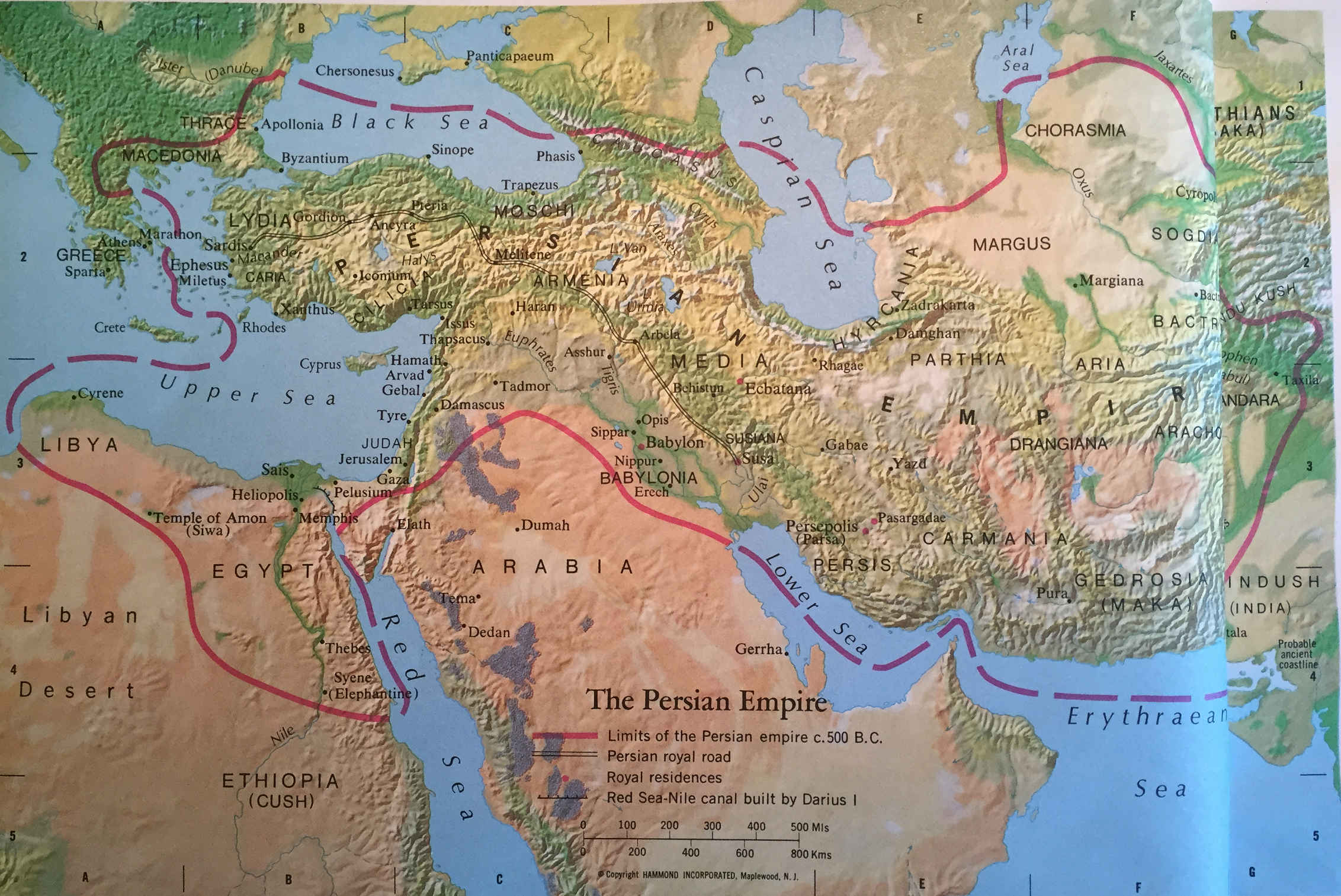Bible Map The Persian Empire World Events And The Bible