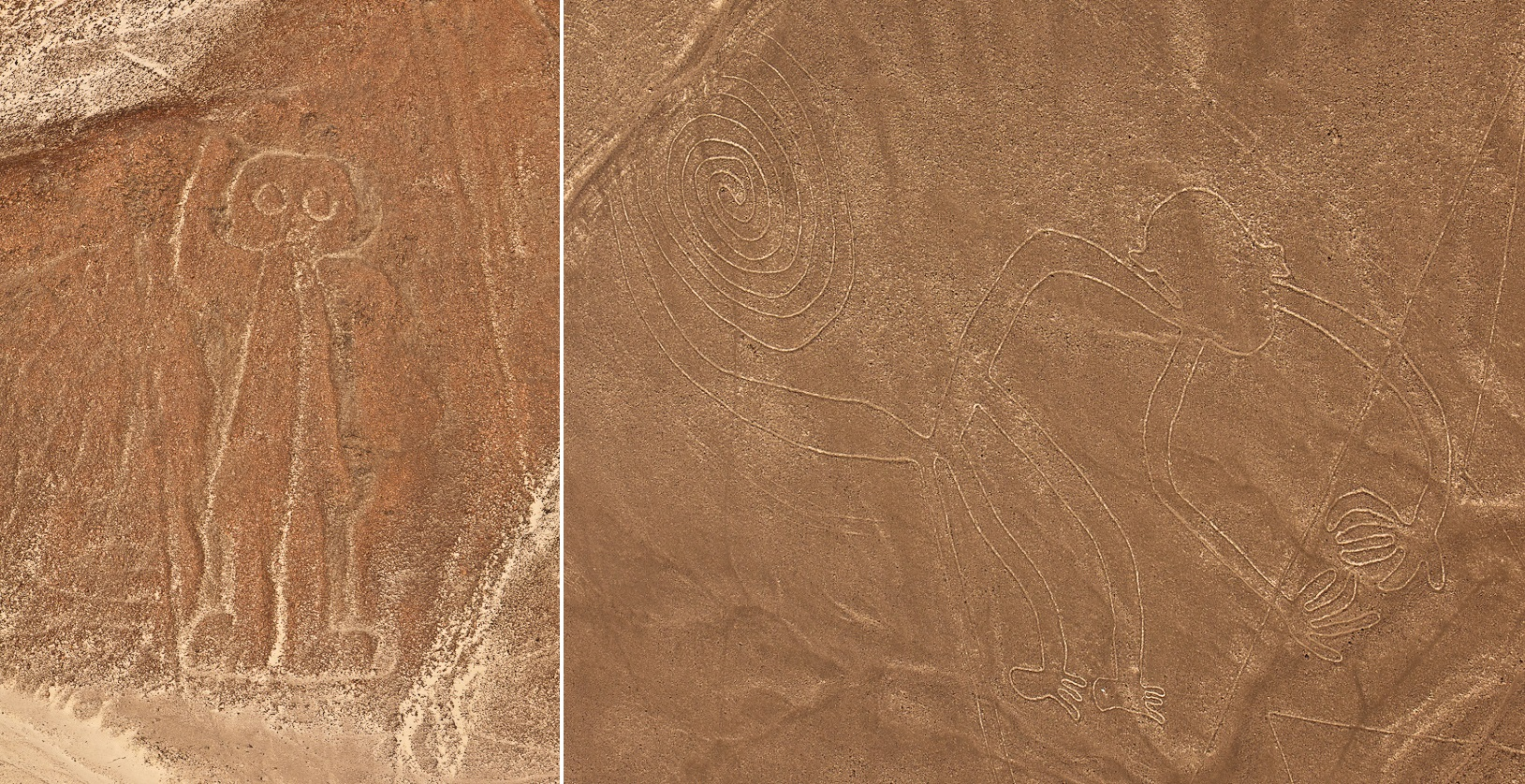 Nazca Lines: The Astronaut and the Monkey