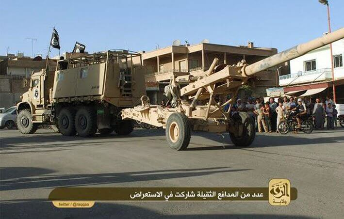 ISIS With US Military Truck and M198 Howitzer