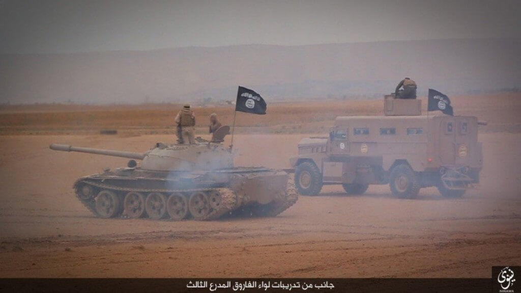 ISIS With United States Humvee and Tank
