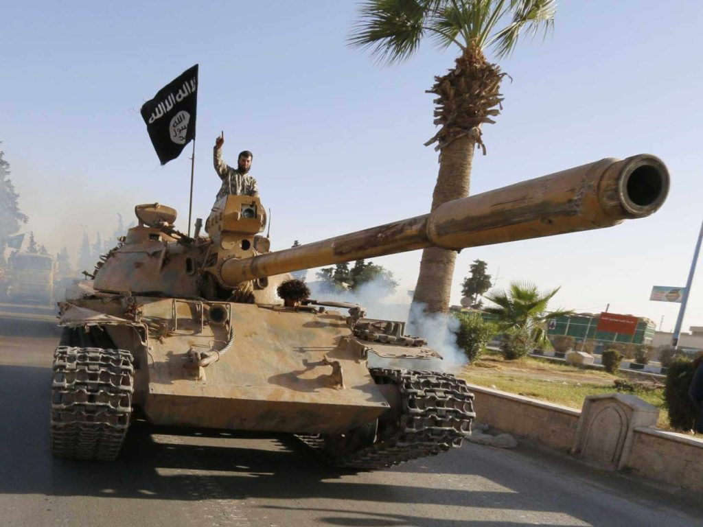 ISIS With US Military Tank