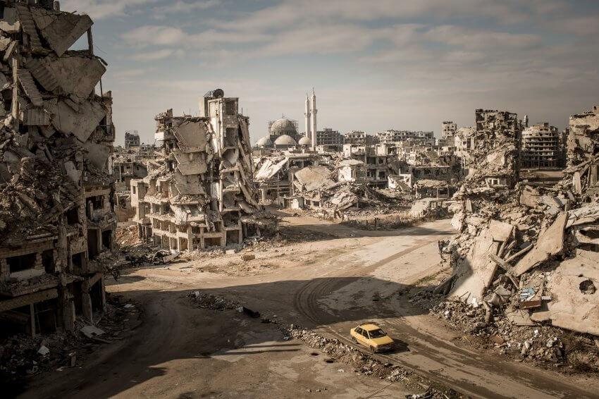 Syria Destroyed City of Homs - Spiegel