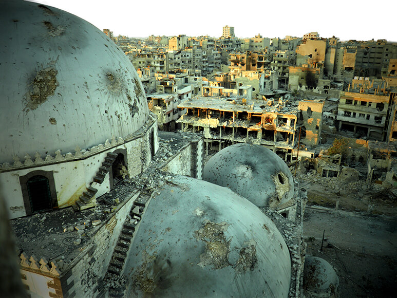 Syria Destroyed Khalid ibn al-Walid Mosque in Homs