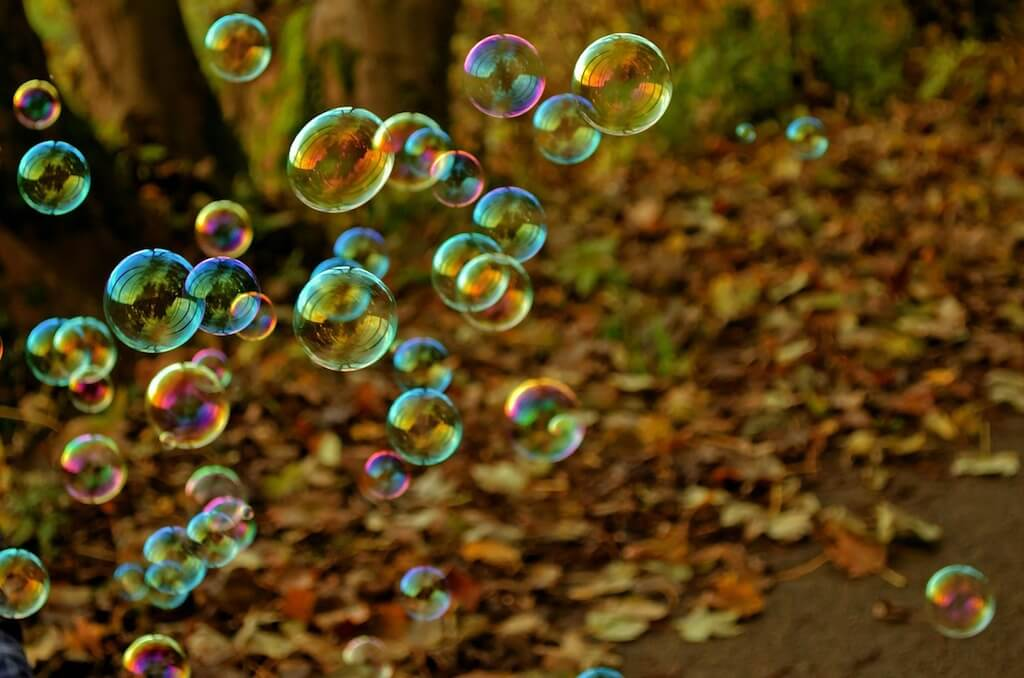 Bubbles Fall Leaves