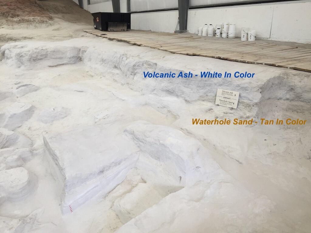 Waterhole Sand and Ash Layer - Ashfall Fossil Beds