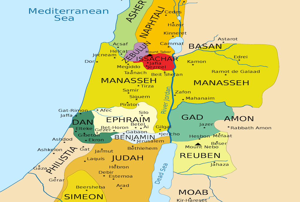 What Are The 12 Tribes Of Israel? | World Events and the Bible Kingdom Israel World Map on israel 700 bc, israel divided, israel home,