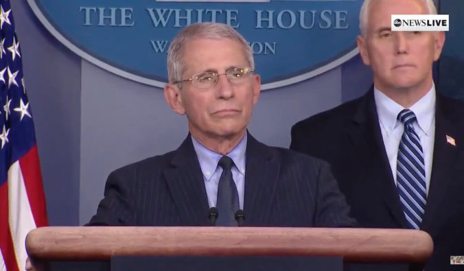 Fauci: Lockdown To Continue Until No New Cases Of Coronavirus